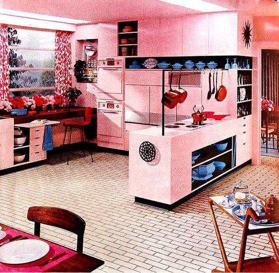 Couleurs de cuisine cuisines and ann es 70 cuisine on for Cuisine style annee 70