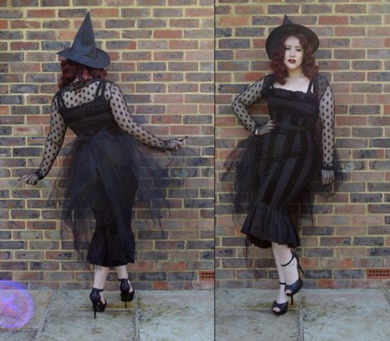 Pinup vintage 50s retro Halloween costume witch