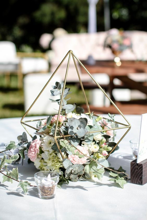 A Terrarium Is A Terrarium But It Can Be Many Other Things In This Picture Candle Wedding Centerpieces Elegant Wedding Centerpiece Wedding Table Centerpieces