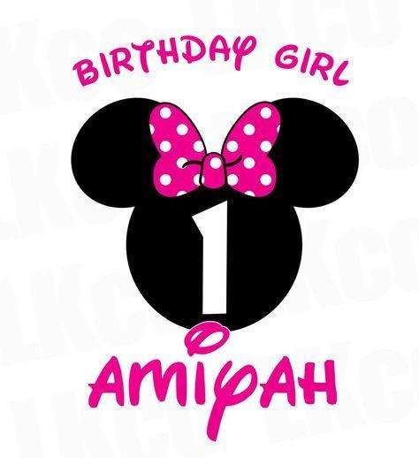 Minnie Mouse Iron On Transfer Birthday Girl Pink Black Dots In 2020 Minnie Mouse 1st Birthday Minnie Mouse First Birthday Mickey Mouse 1st Birthday
