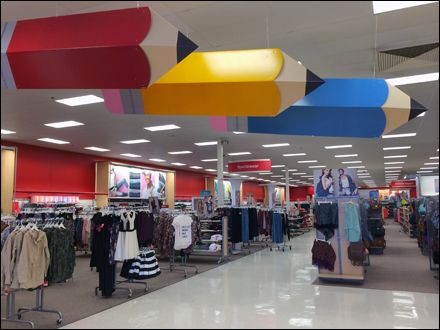 Target Back-to-School Pencil Ceiling Directionals
