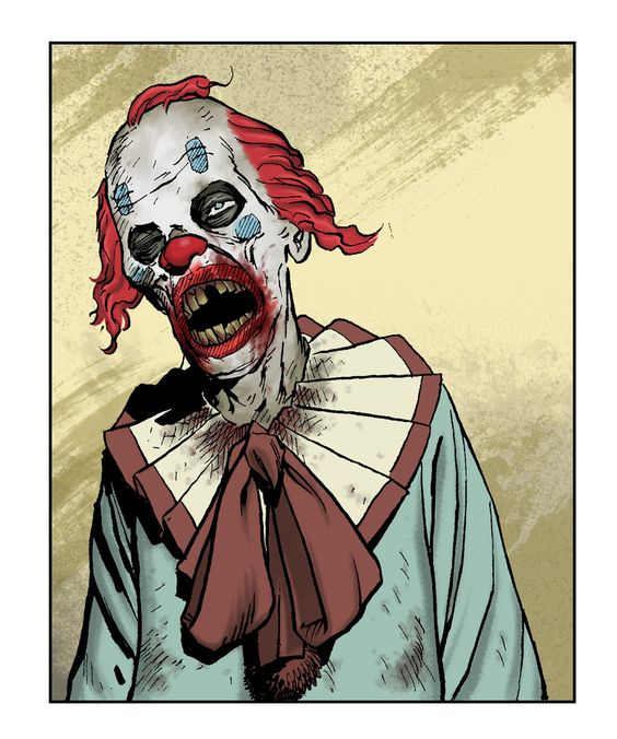 Clown Zombie by angryrooster.deviantart.com on @DeviantArt