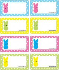 Printable easter tags craftbnb gift tags peeps easter gift tagsfree printable ideas from negle Choice Image