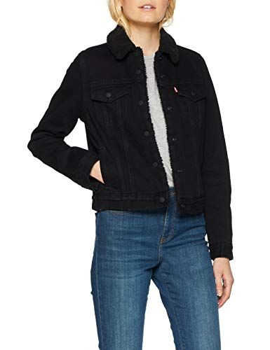 Levi's Women's Original Sherpa Trucker Jacket (Forever Black