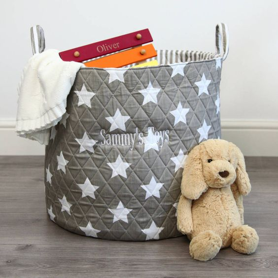 personalised grey star storage bag by my 1st years | notonthehighstreet.com: