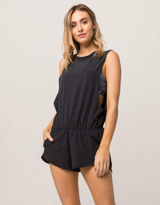 Hurley Womens Coastal Quick Dry Water Repellent Beach Cover-Up Romper
