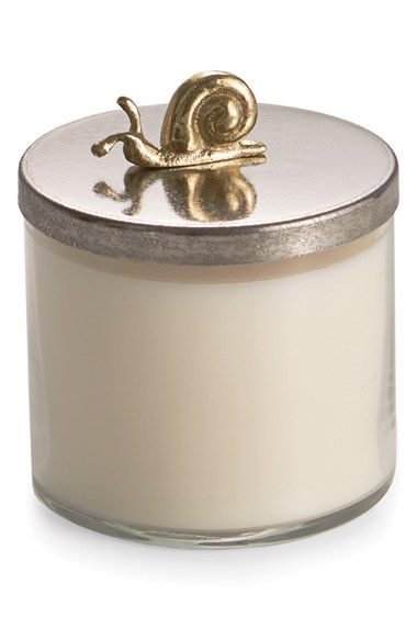 Free shipping and returns on Michael Aram 'Enchanted Garden' Soy Wax Candle at Nordstrom.com. A delicate, nature-inspired figure adorns the lid of a soy-wax jar candle that adds cozy charm to any space.Notes: morning dew, grass, oak moss, peat amber, lime mist.