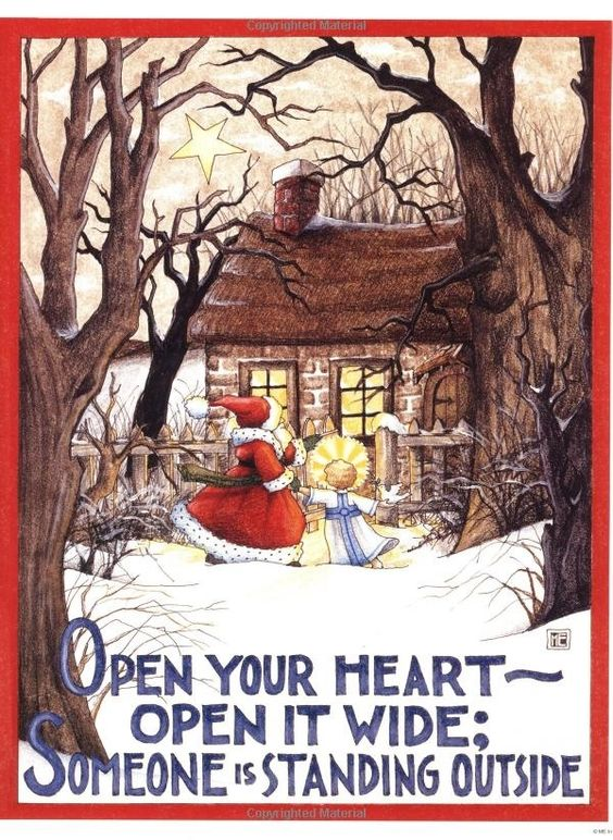 Open your heart. Mary Englebrite