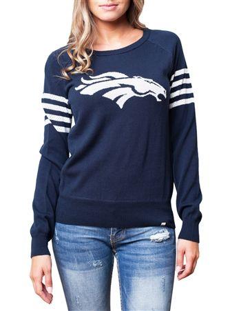 Denver Broncos Womens Varsity Sweater   SportyThreads.com