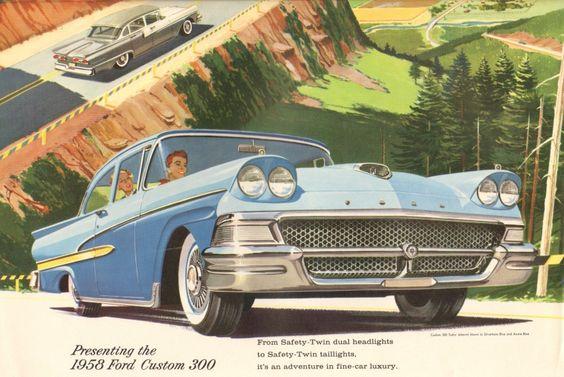 1958 Ford Sales Catalog Con Imagenes Coches Y Motocicletas