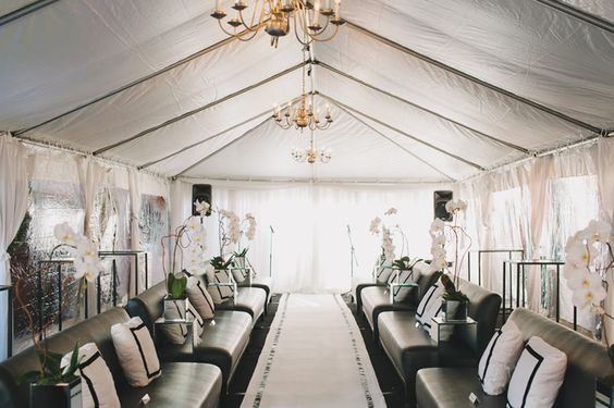 ceremony tent turned luxe lounge | Ultra Chic Black + White Wedding in Toronto | Images by Mango Studios: Event Planning, Black White Weddings, Wedding Lounge, Dream Wedding, Ceremony Tent, Events Tent