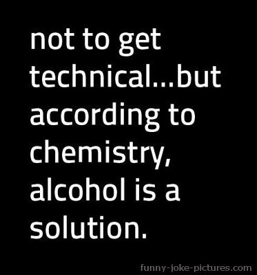 Alcohol Chemistry Solution Funny Joke Picture