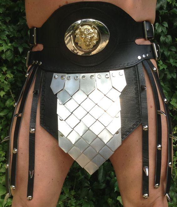 roman armor - rok met alluminium plaatjes