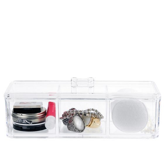 3 Compartment Compact Grooming Organizer