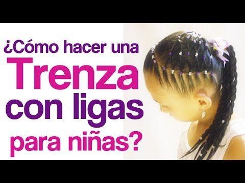 Peinado para niñas super lindo con ligas paso a paso