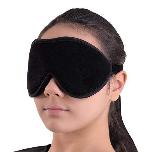 Sleep Mask Blindfold Eye Shades 100 Light Blocking Blackout Sleeping Mask Is Comfortable For Relaxation Sleep Mask Travel Sleep Mask Neck Pillow Massager