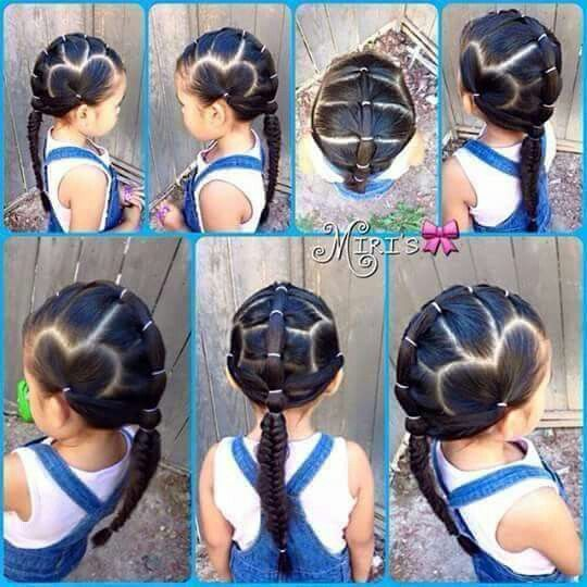 Peinado de  niña