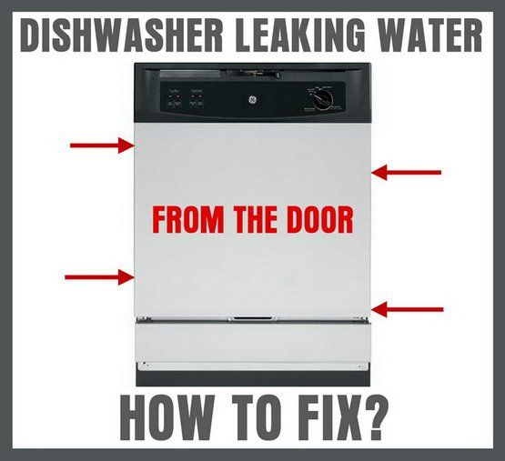 Dishwasher Is Leaking Water From The Door – How To Fix?