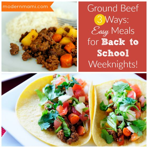 Seasons simple meals and back to school on pinterest for Different meal ideas for ground beef
