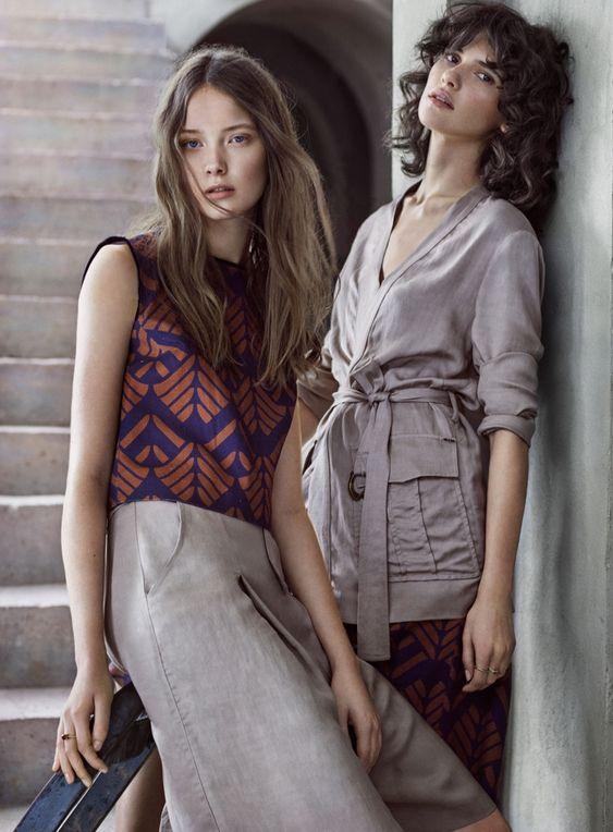 Models wears boho prints pose for Kocca spring summer 2016 campaign