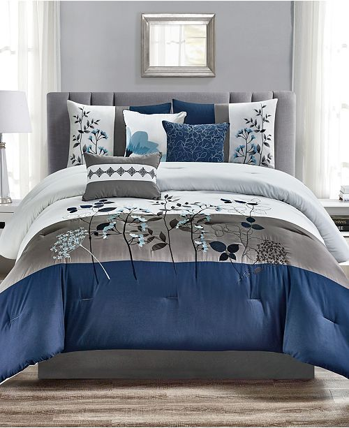 Hallmart Collectibles Closeout Anastasia 7 Pc California King Comforter Set Reviews Bed In A Bag Comforter Sets King Comforter Sets Mattress Furniture Cal king bed in a bag