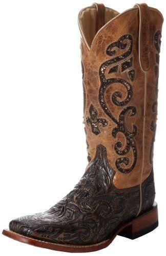 Ferrini Women's Embossed Laser Western Boot,Antique Saddle/Black,6 B US Ferrini http://www.amazon.com/dp/B00FORVOKY/ref=cm_sw_r_pi_dp_dQ0fub10JEY82