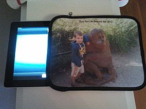 La housse pour iPad de Michèle :)