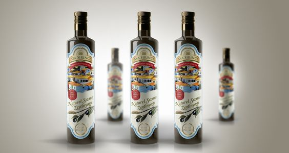Aya Sirince Olive Oil Label Design on Packaging of the World - Creative Package Design Gallery