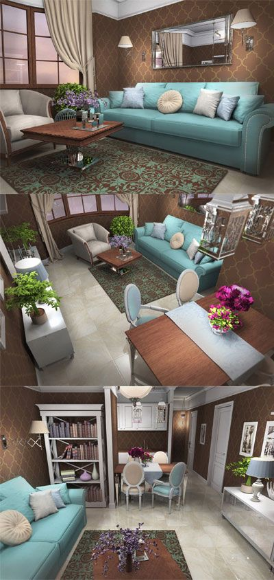 Living room duck egg blue sofa chocolate brown wallpaper for Duck egg living room ideas