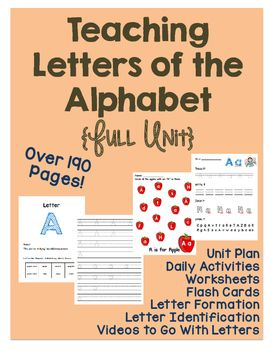 Letter Learning Full Unit