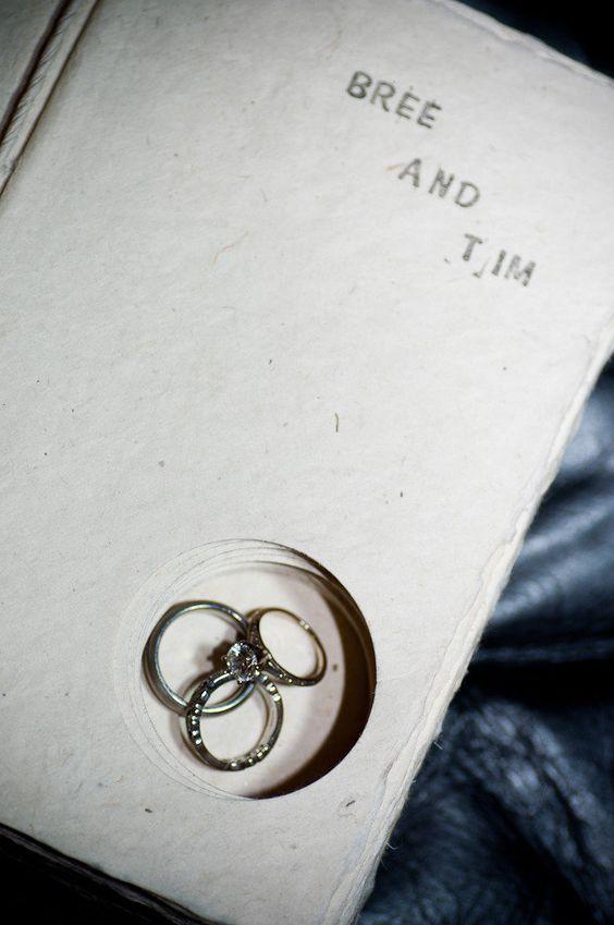 Excelente Idea para Una Pareja de Cerebritos o Aquellos que les gusta leer Mucho... en lugar de un cojin de sortijas matrimoniales =)