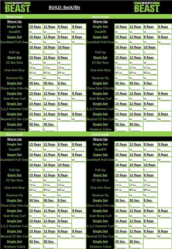 BodyBeastWorkoutSheets    Body Beast Workout Sheets
