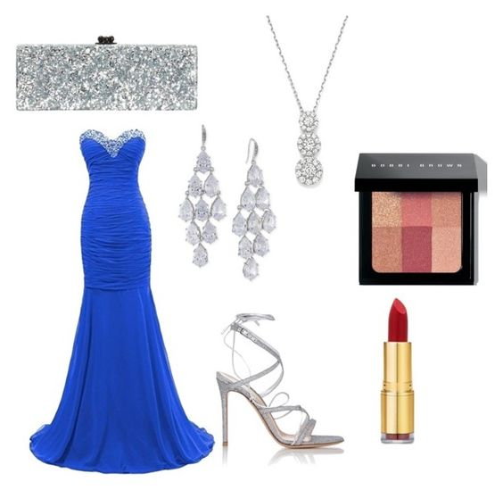 """""""untitled #31"""" by claireivymullins ❤ liked on Polyvore featuring Edie Parker, Gianvito Rossi, Carolee, Bloomingdale's, Isaac Mizrahi, Bobbi Brown Cosmetics, women's clothing, women, female and woman"""