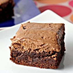 Chocolate fudge brownies with BEST EVER chocolate buttercream frosting...for the win!