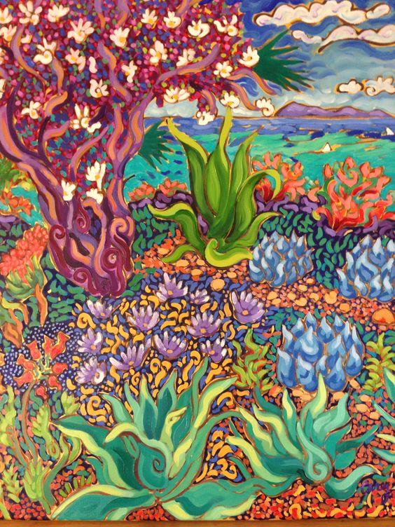 Seaside Flowering Tree by Cathy Carey
