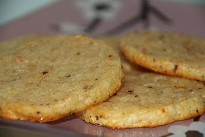 Parmesan, pepper and chilli savoury biscuits