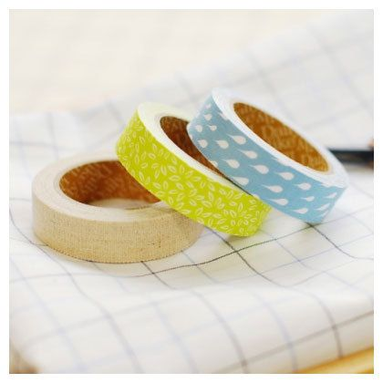 Adhesive Deco fabric tape set of 3 tapes  by Fallindesign on Etsy, $13.60