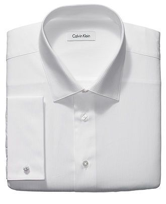 Calvin Klein Dress Shirt, Big and Tall Tonal Striped French Cuff Long Sleeve Shirt - Mens Dress Shirts - Macy's