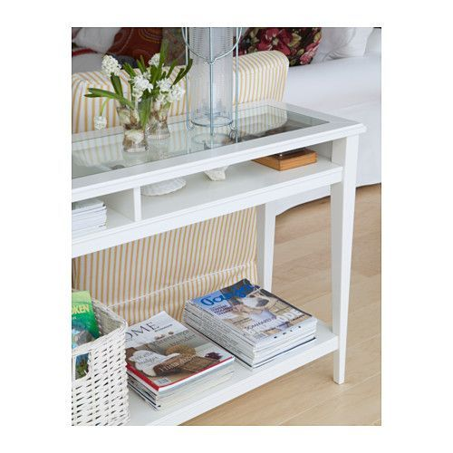 Liatorp desserte blanc verre liatorp lunettes et tables for Ikea hall table