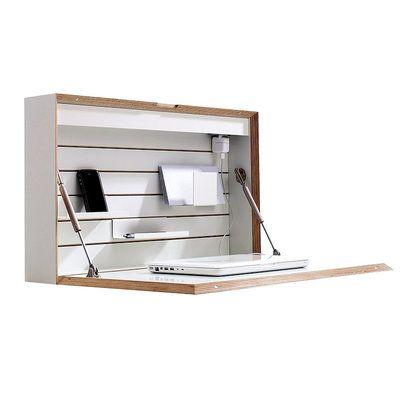 Müller Möbel FLATBOX - un secrétaire mural parfaitement équipé, conçu pour durer et très compact malgré un espace de travail confortable LAPADD.com