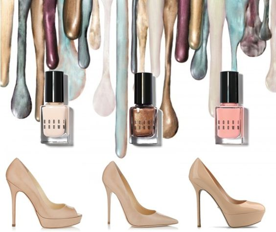 Nude! Nude! Nude!  Bobbi Brown, Louboutin, Jimmy Choo