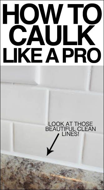 How to caulk like a pro. LOVE this tip!!