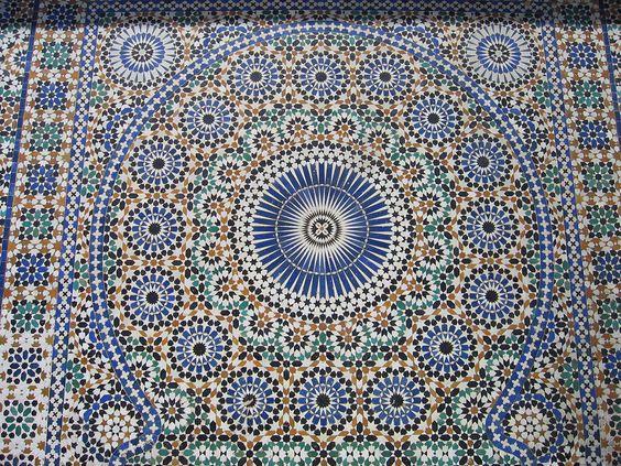 Mosaicos geométricos en Meknés (Marruecos). | Matemolivares