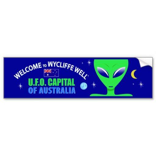 Wycliffe Well UFO Bumper Sticker #Sticker #BumperSticker #WycliffeWell #Alien #Australia #UFO