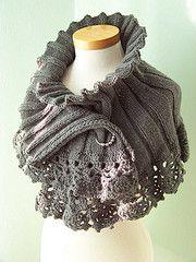 #knit: Grey Capelet, Knit Crochet, Crochet Edging, Crochet Border, Knitting Pattern, Crochet Capelet, Elegant Grey, Shrug Pattern