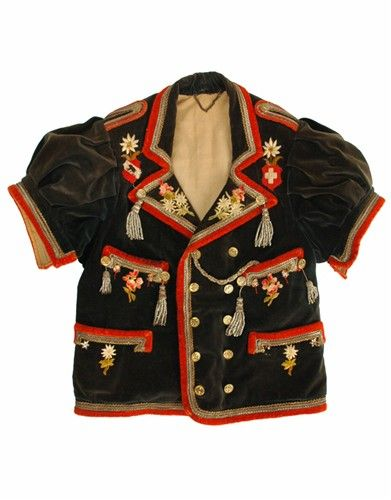 ANTIQUE 19TH CENTURY FOLK ART ETHNIC SWISS JACKET