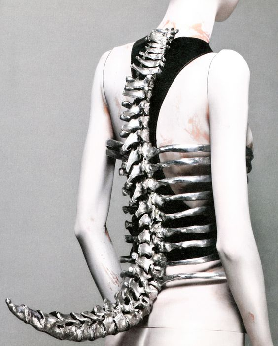 """Shaun Leane for Alexander McQueen, """"Spine"""" Corset, UntitledS/S 98"""