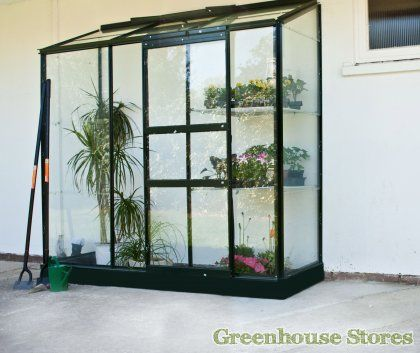 Halls 2x6 Green Wall Garden Lean to Greenhouse  http://www.greenhousestores.co.uk/Halls-2x6-Wall-Garden-Green-Lean-To-Greenhouse-Toughened-Safety-Glazing.htm