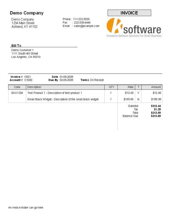 invoice template payment terms free printable invoice sample – Examples of Tax Invoices