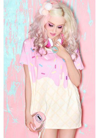 Japan LA Melty Ice Cream Boxy Tee. This super cute! I would like it with pants though.